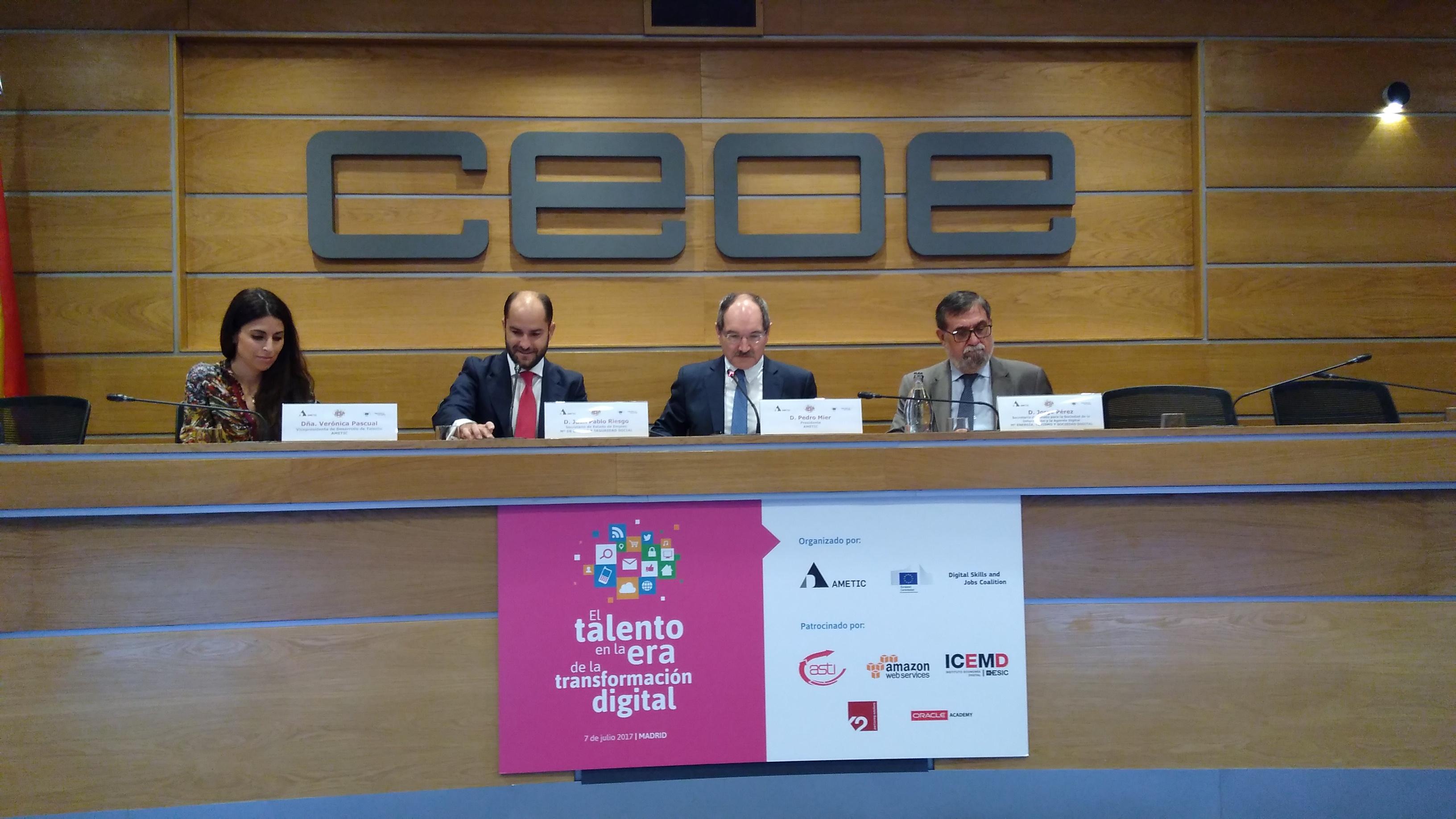 AMETIC y los sindicatos CCOO y UGT reclaman medidas para fomentar el talento digital en España
