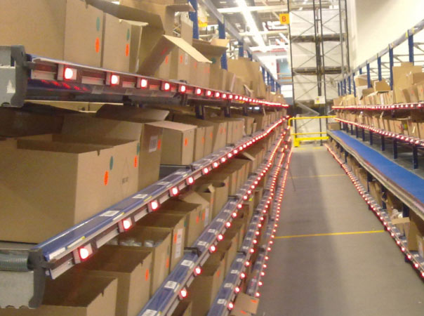 WAREHOUSE MANAGEMENT SYSTEM WITH A PICK-TO-LIGHT SYSTEM