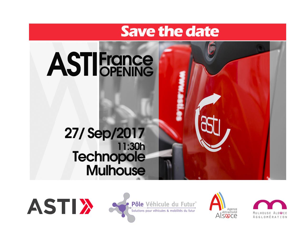 ASTI inaugura su primera oficina en Francia el próximo 27 de septiembre