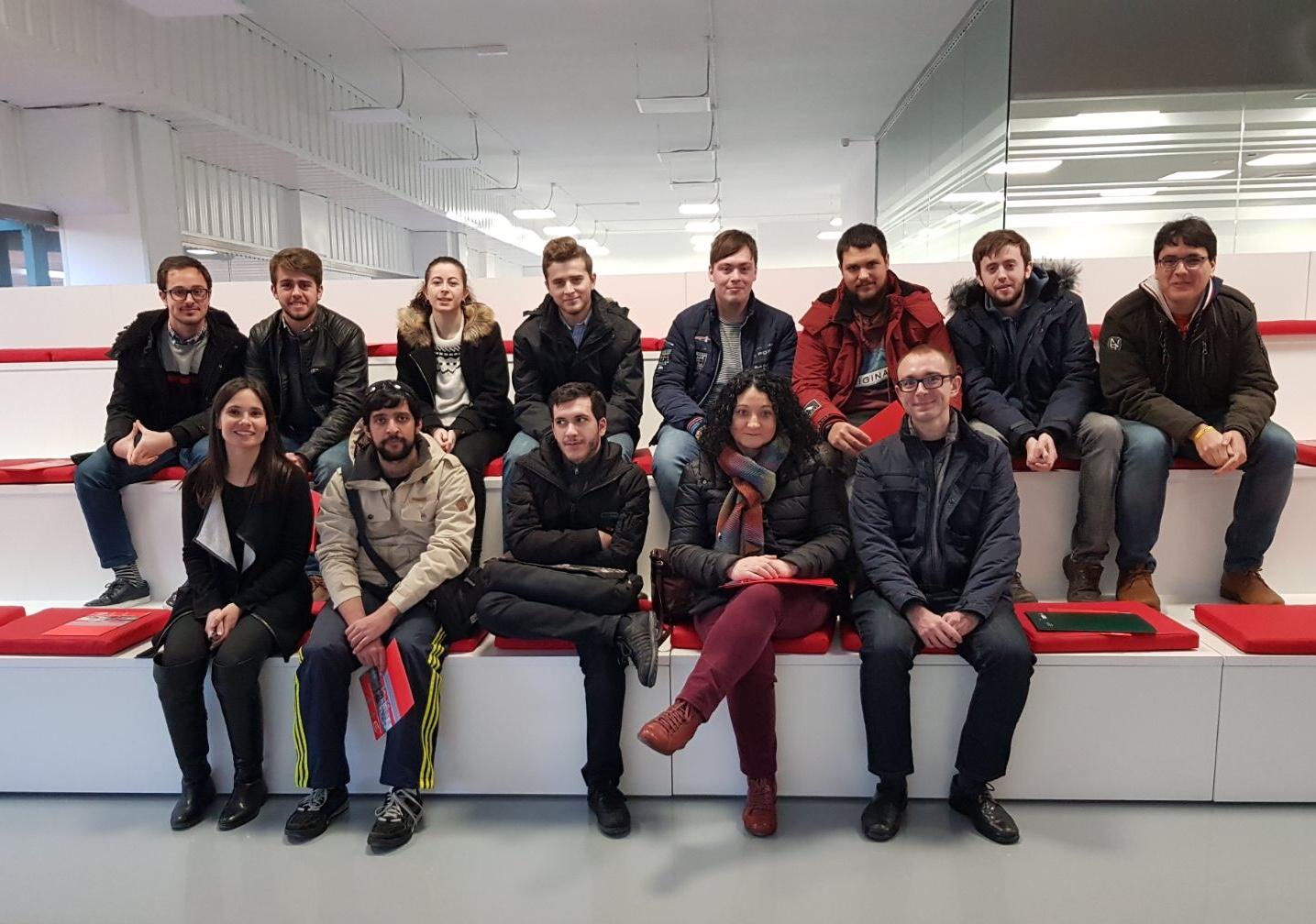 Los alumnos de la Universidad Europea de Valladolid visitan las instalaciones de ASTI TechGroup