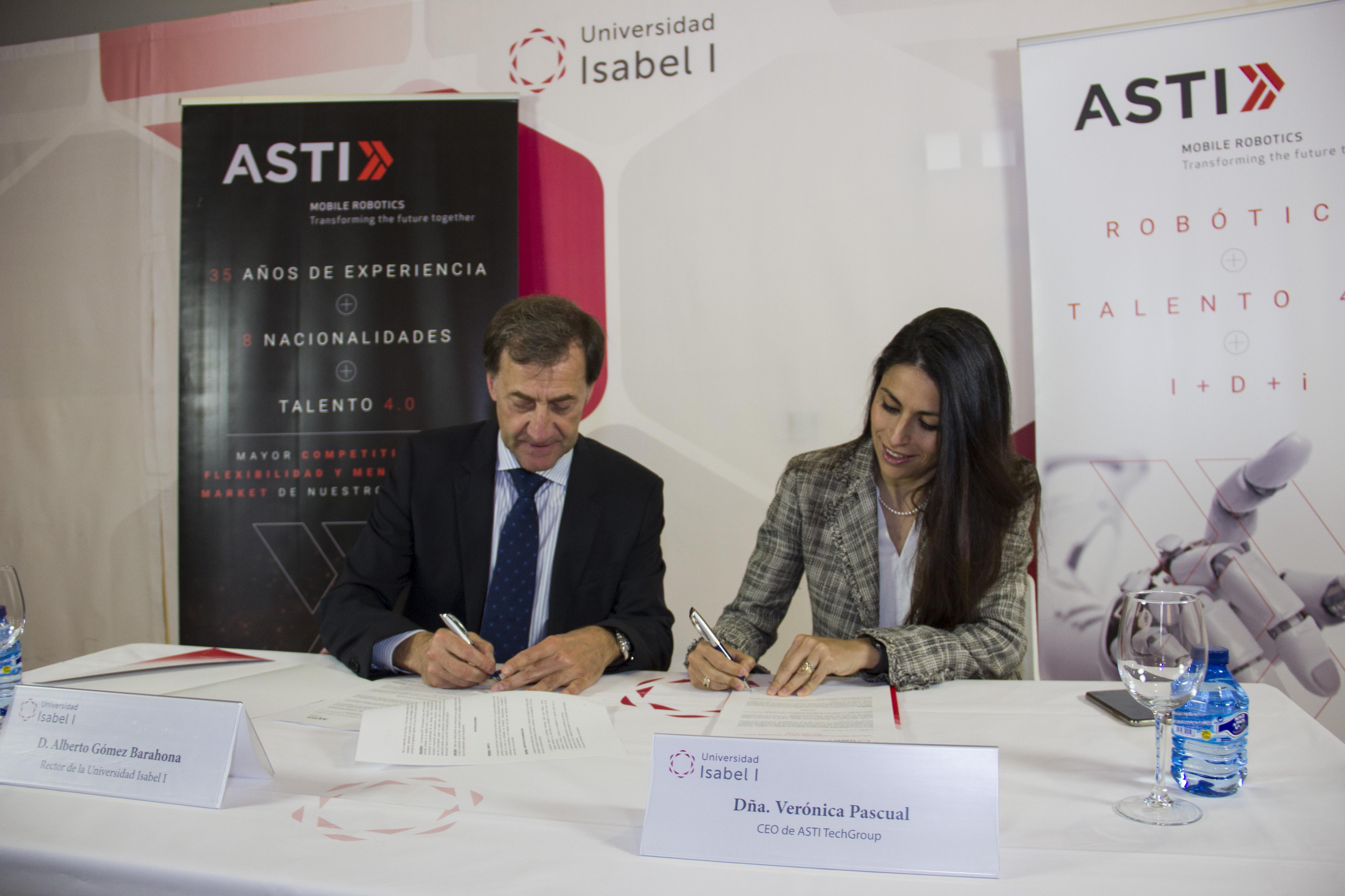 La Universidad Isabel I y ASTI TechGroup firman un convenio de colaboración en materia de formación, investigación y transferencia del conocimiento