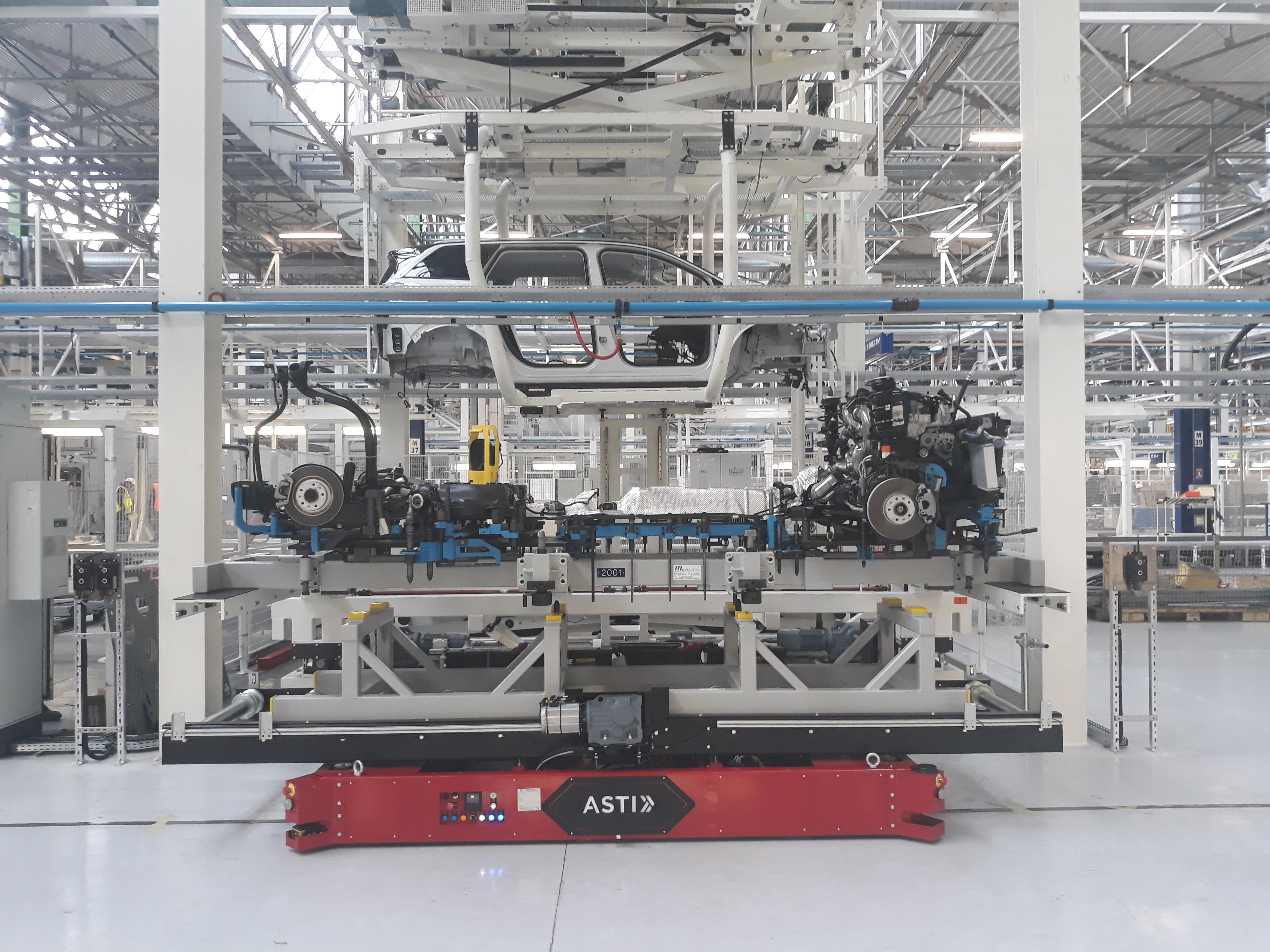 ASTI Mobile Robotics desarrolla un AGV que facilita la flexibilidad en las líneas de montaje del sector de la automoción