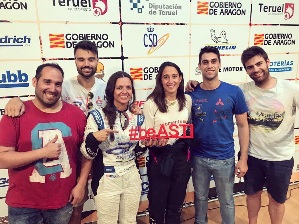 Un equipo de ASTI TechGroup, con Cristina Gutiérrez en la Baja Aragón