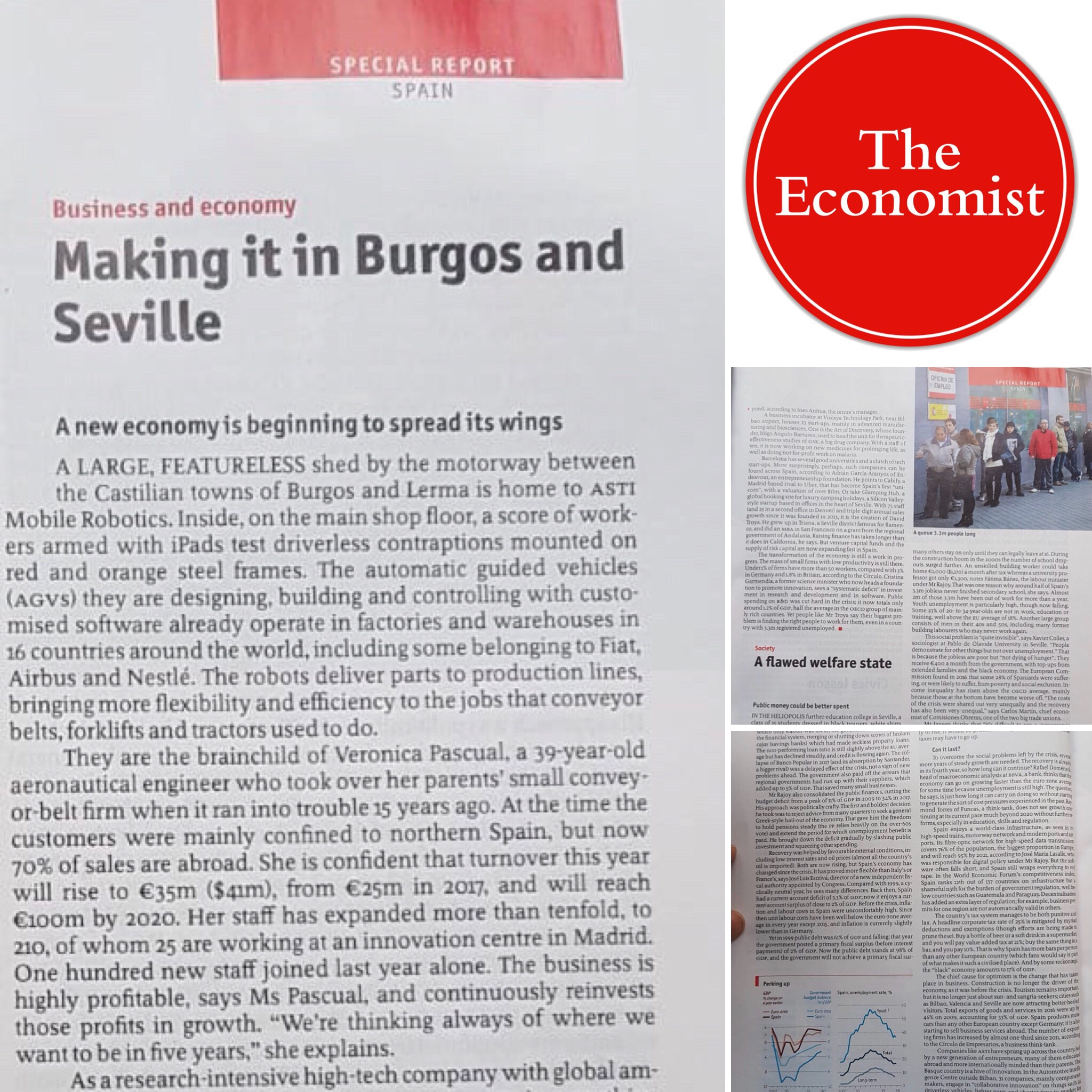 The Economist presents ASTI as a benchmark for the transformation of the Spanish economy