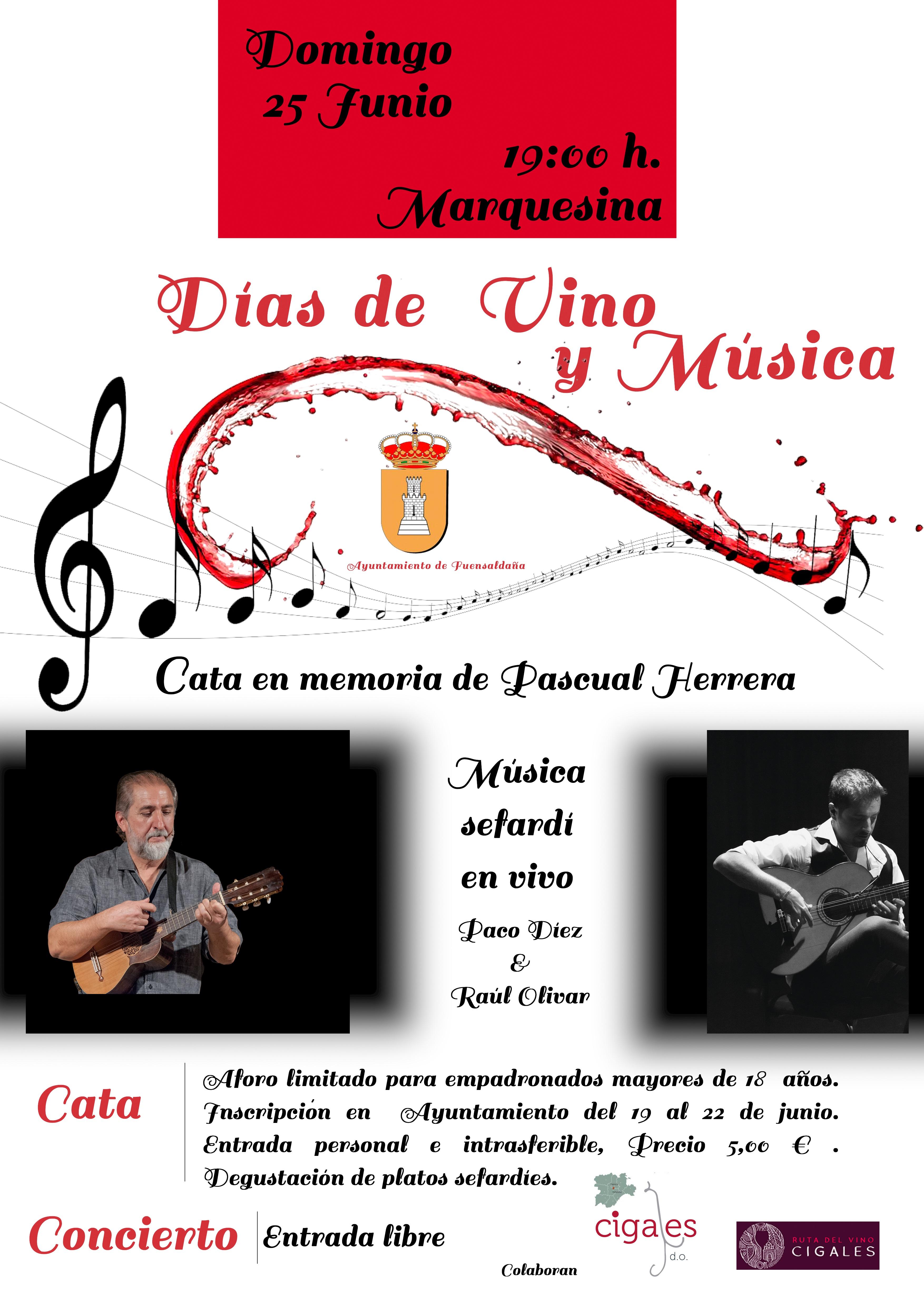 Fuensaldaña acoge una jornada de vino y música en memoria de Pascual Herrera