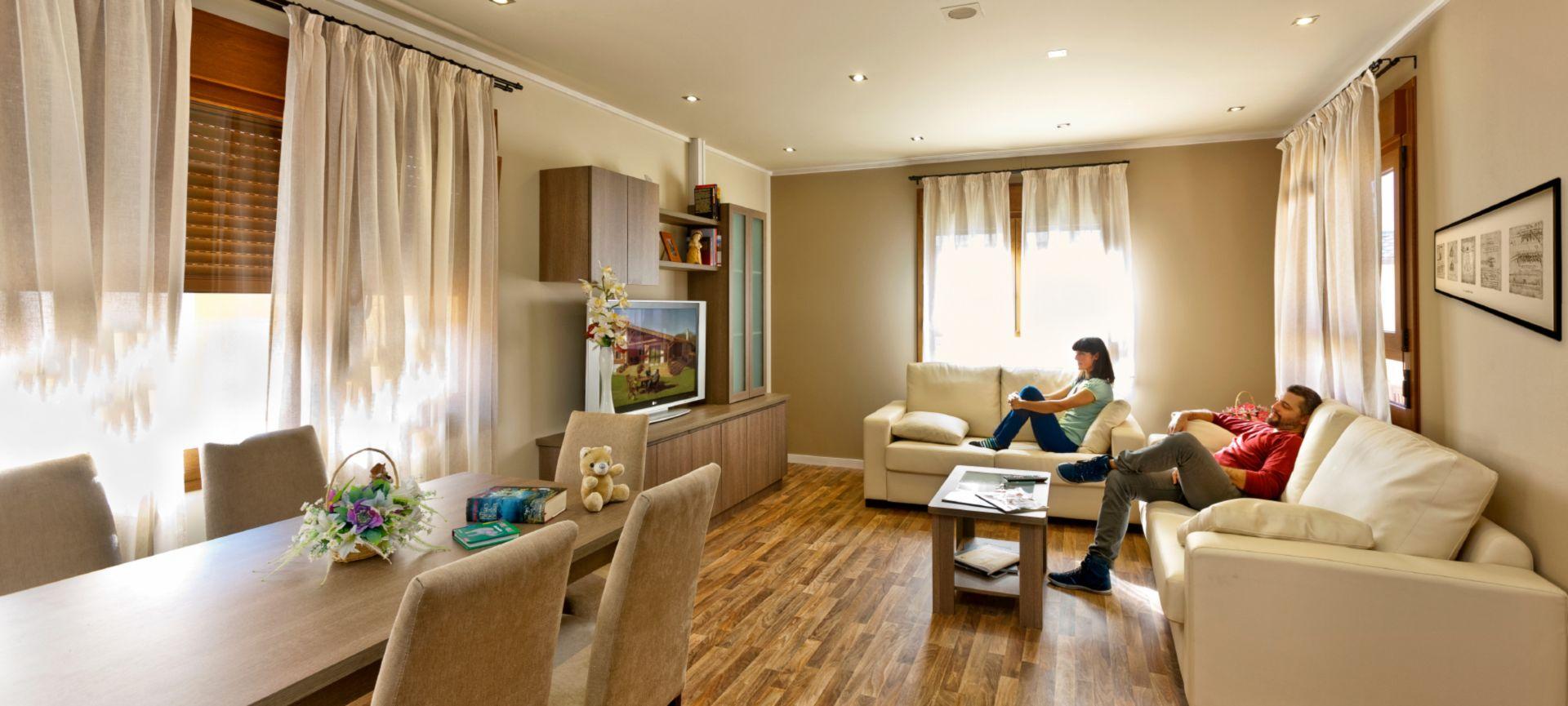 Casas prefabricadas modulares economicas y modernas eurocasa - Interiores de casas prefabricadas ...