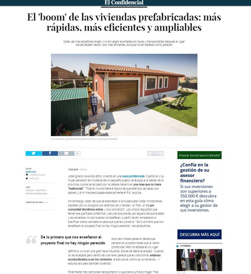 El boom de las viviendas prefabricadas eurocasa - Vivir en una casa prefabricada ...