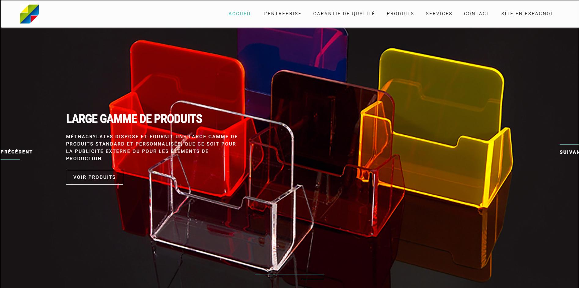Nueva web de Metacrilatos Burgos en Francia